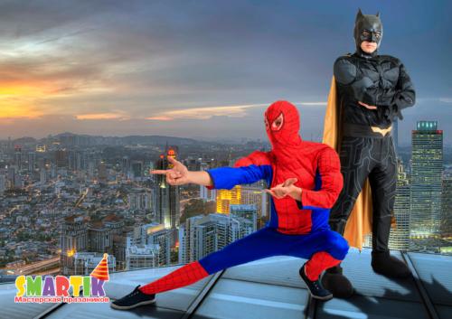 Бетмен и Спайдермен